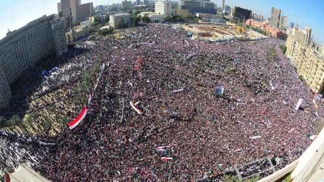 مثل ميدان التحرير في القاهرة أيقونة لثورات الربيع العربي
