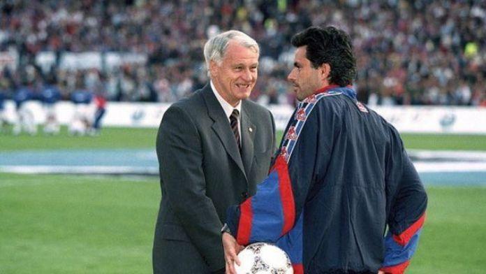 Mourinho and Bobby Robson