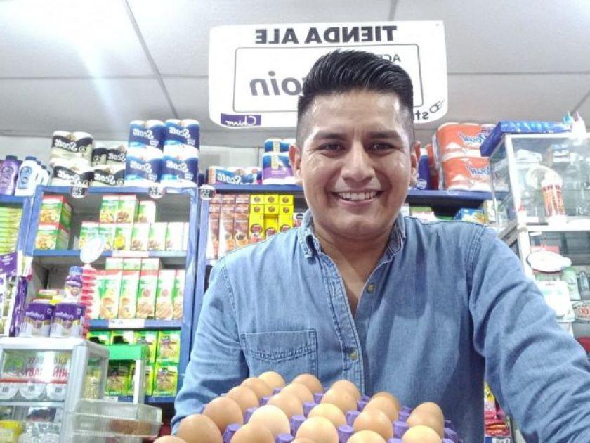Ed Hernandez in his store