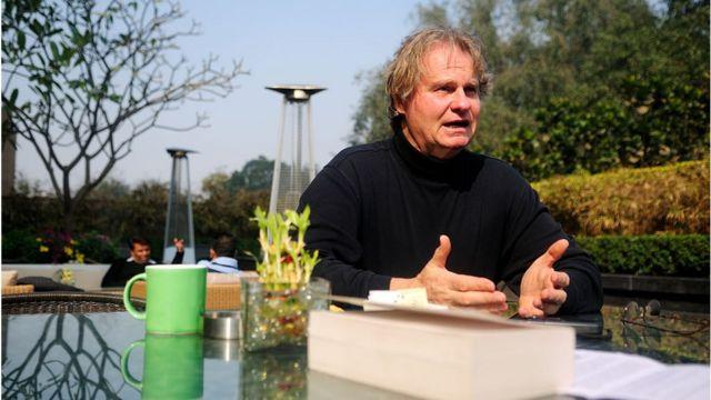 Wade Davis en 2013 en Inde