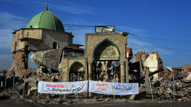 The demolished Great Mosque of al-Nuri