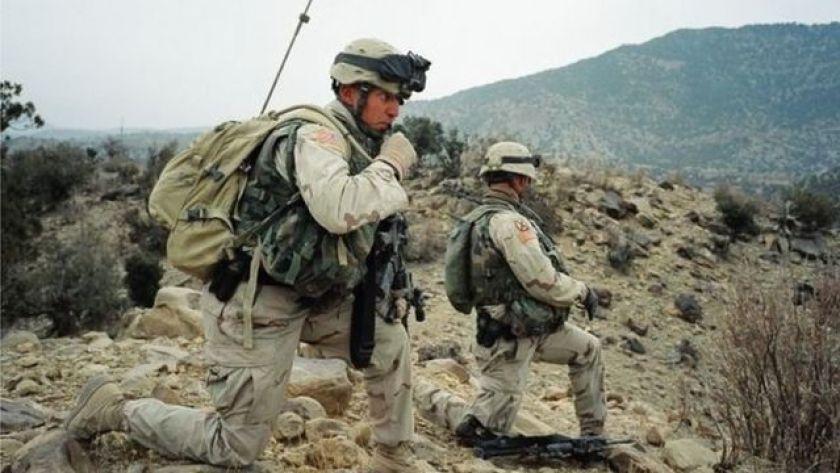 American soldiers in Afghanistan in 2003