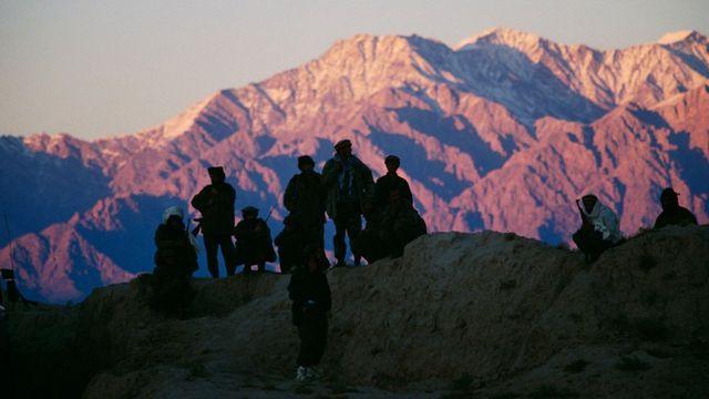 Ahmad Shah Massoud's mujahideen between Panjshir Valley and Kabul in 1996