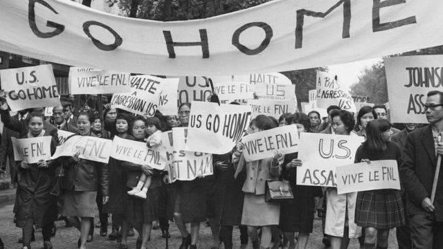 پیرس، ویتنام جنگ کے خلاف ہونے والا مظاہرہ