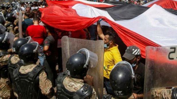 العراق شهد احتجاجات شعبية في أكتوبر/تشرين الأول العام الماضي ضد تردي الأوضاع الاقتصادية والسياسية