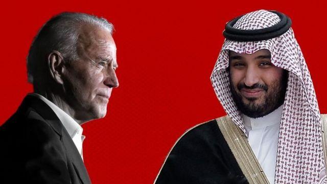 Mohammed bin Salman and Joe Biden