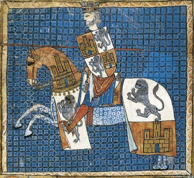 Grabado de Alfonso X