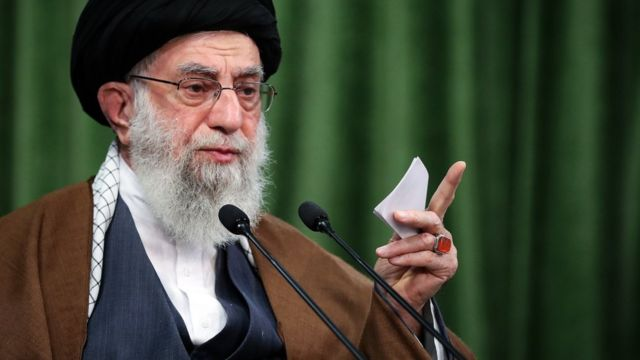 Ayatollah Ali Khamenei in Tehran, Iran, on November 3, 2020