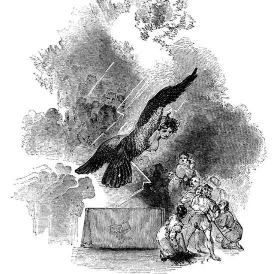 """Ilustración """"The Tempest"""", de Shakespeare."""