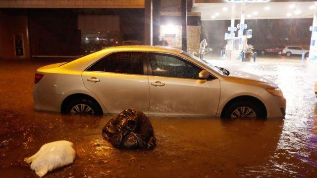 Intensas lluvias en Nueva York