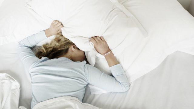 Woman sleeps