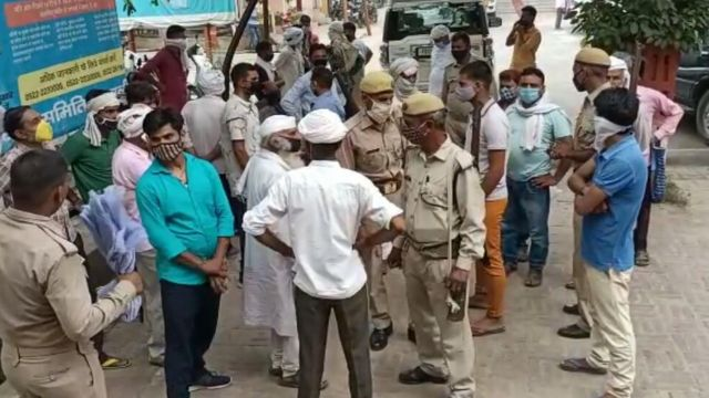People forced to migrate in Shamli