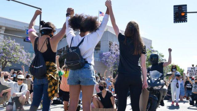 Una protesta en Glendale