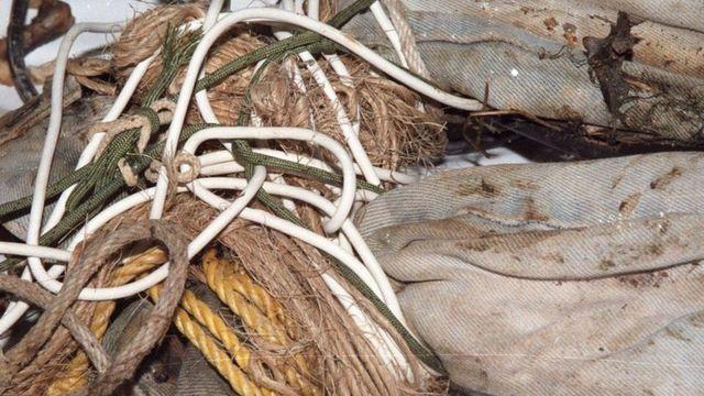 Shawna'nın cesedi 6 ayrı çeşit iple bağlanmış olarak bulundu