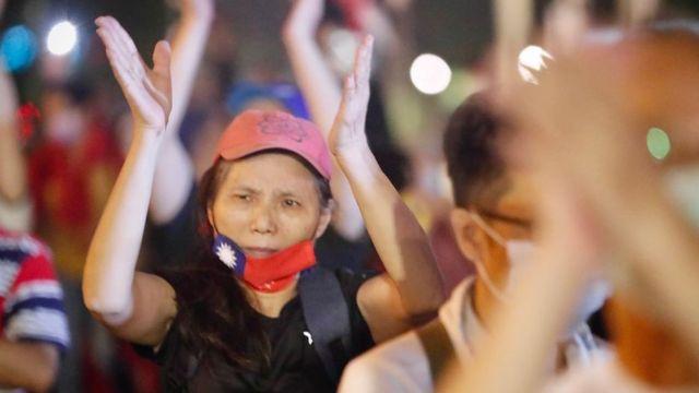 Protesta en Taiwán