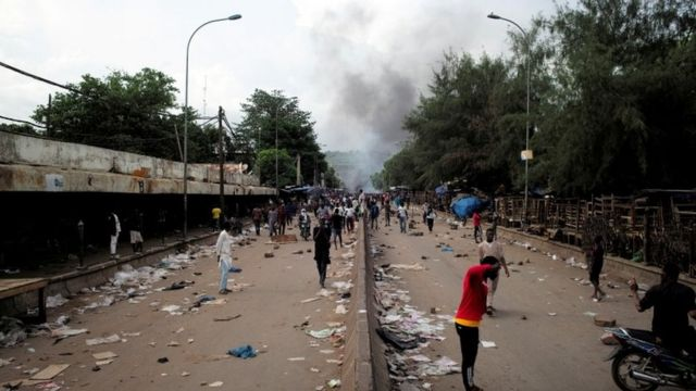 Protests on the streets of Bamako
