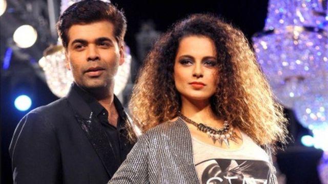 Kangana Ranaut with director Karan Johar