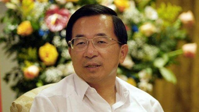 2003年11月2日,台湾总统陈树扁在接受国际媒体采访时发表讲话。