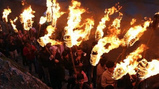 نوروز: حملة المشاعل في عقرة
