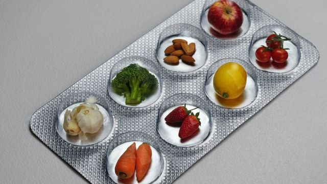 Foods inside a medicine bar