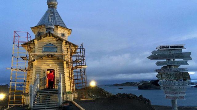Російська церква в Антарктиці, яка страждає від кліматичних змін