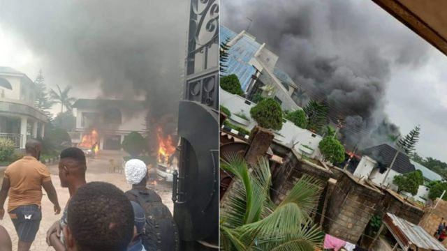 """What is happening in imo state"": [Omumma Mgbidi crisi] 'Imo gunmen invade Govnor Hope Uzodima house set am on fire'"