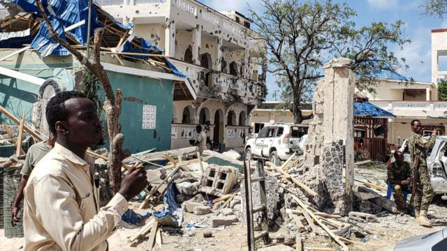 In the aftermath of an attack by Al-Shabaab