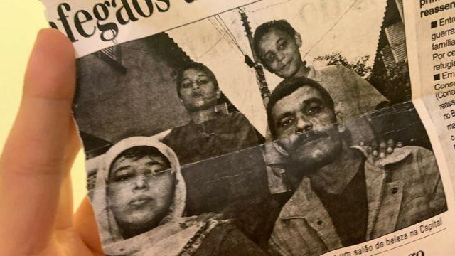 Newspaper with Nabila's family photo