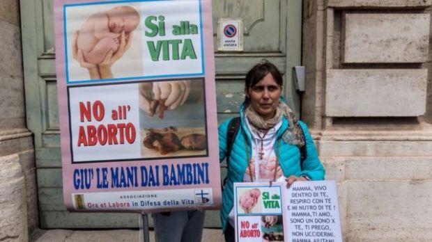 Protesta contra el aborto el Italia