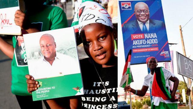 Ghana 2020 Elections Results: John Mahama vs Nana Akufo-Addo 'must-win' Greater Accra, Central, Western Region den Ashanti, Volta Region on 7 December - BBC News Pidgin