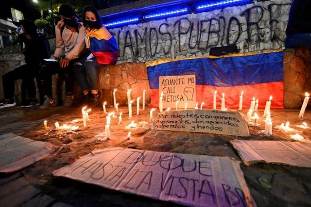 Uma vigília na colombia