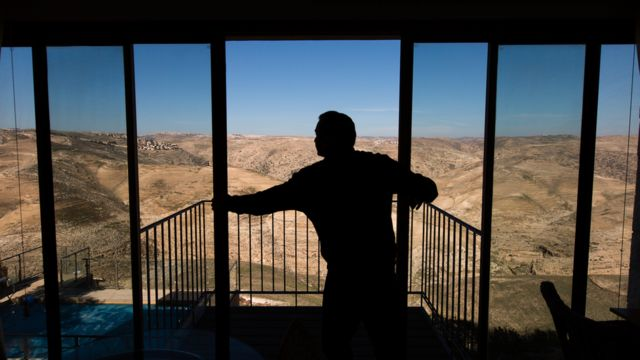 A bed and breakfast in a Jewish settlement in the West Bank advertised on