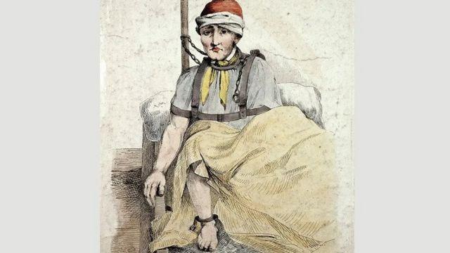 ربما بدت المستشفى وكأنها قصر لكن علاج المرضى لم يكن مثاليا كما هو موضح في رسم ويليام نوريس في عام 1814