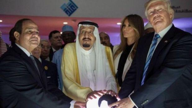 ترامب وسلمان والسيسي