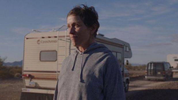 Frances McDormand and Nomadland
