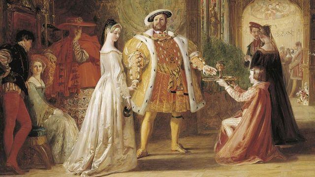 Pintura de Enrique VIII y Ana Bolena