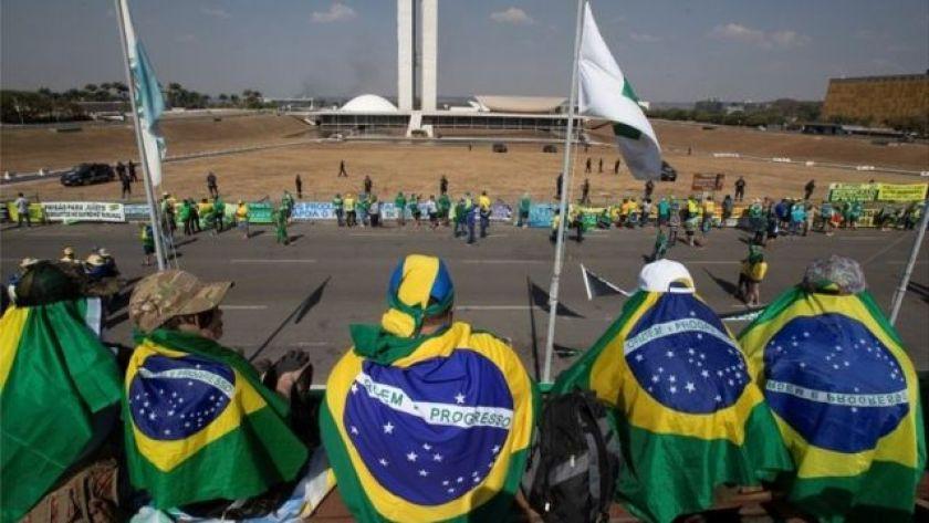 President's supporters in Brasilia