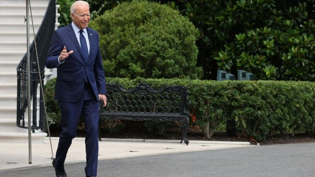 """Biden told reporters at the White House on Friday """"They are killing people"""""""