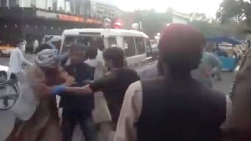 People injured outside Kabul airport