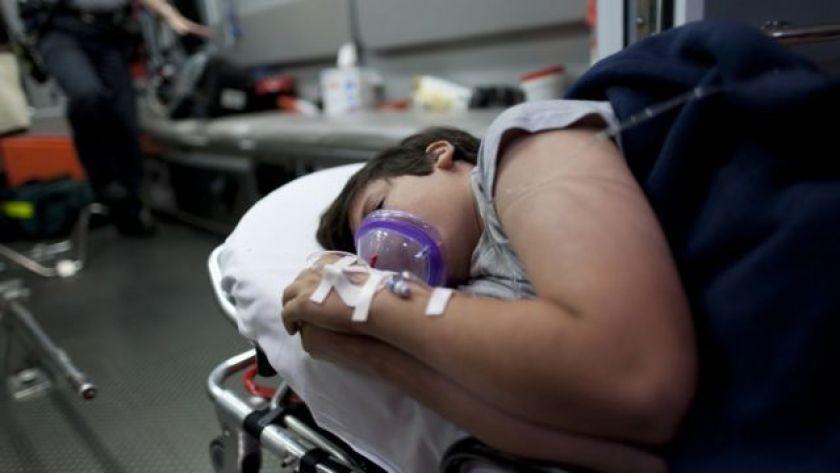 child on stretcher