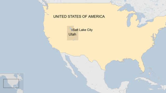 A map showing where Utah is in the US