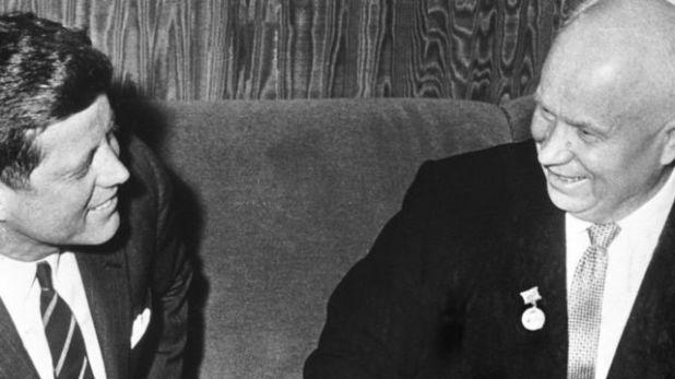كينيدي وخروتشوف في لقاء بفيينا