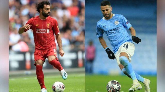 Riyad Mahrez and Mohamed Salah