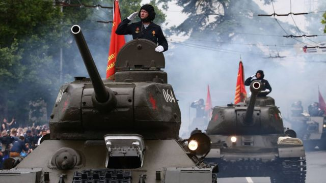 Russian tank in the Crimea