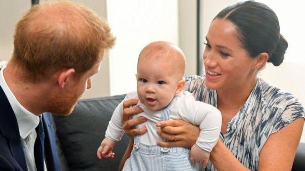 هاري وميغان وطفلهما