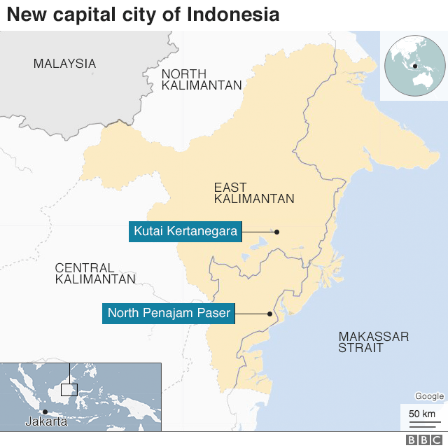Indonesia Capital Map
