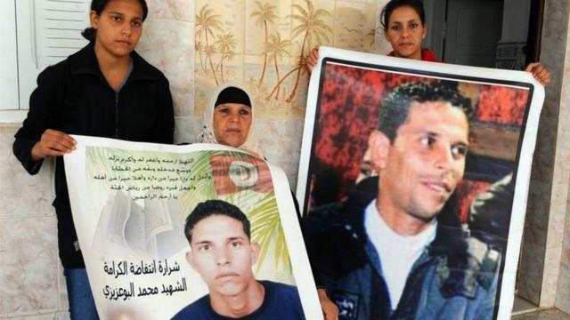 صور للشاب محمد بوعزيزي مفجر الثورة التونسية