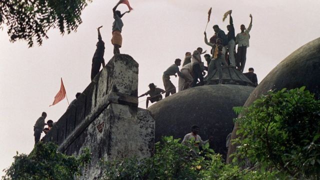 The dispute reached its climax in 1992 when a mob of Hindus demolished the Babri Mosque