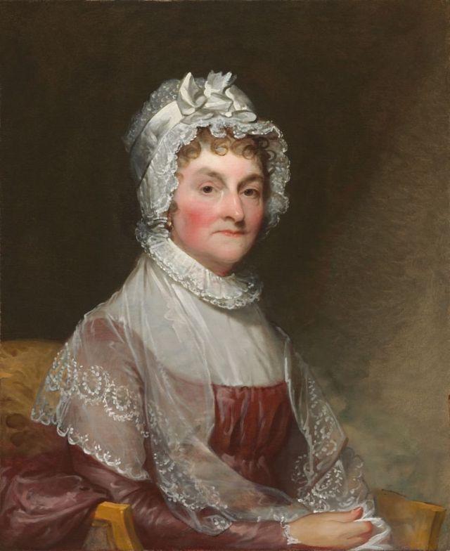 Retrato de Abigail Smith Adams por el pintor Gilbert Stuart.