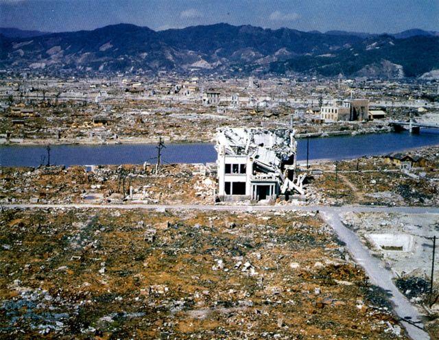 हिरोशिमाका ६० प्रतिशतभन्दा बढी भवनहरू ध्वस्त भएका थिए